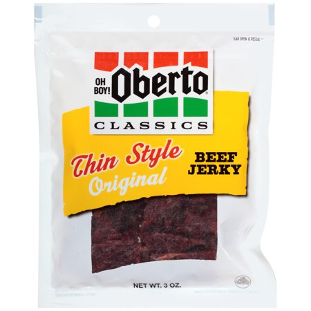 Oh Boy! Oberto Classics Original Thin Style Beef Jerky, 3-Ounce Bag