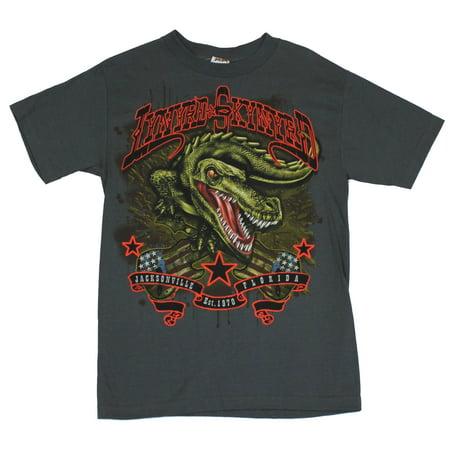 Lynyrd Skynrd Mens T-Shirt  - Gator Jacksonville Florida Image on Gray - Halloween Stores In Jacksonville Nc
