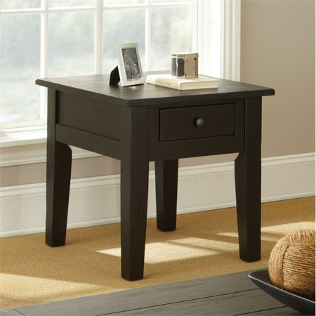 Steve Silver Liberty End Table in Antique Black - image 1 de 3