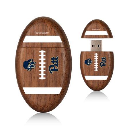 Pittsburgh Panthers 8Gb Wood Football Usb Drive