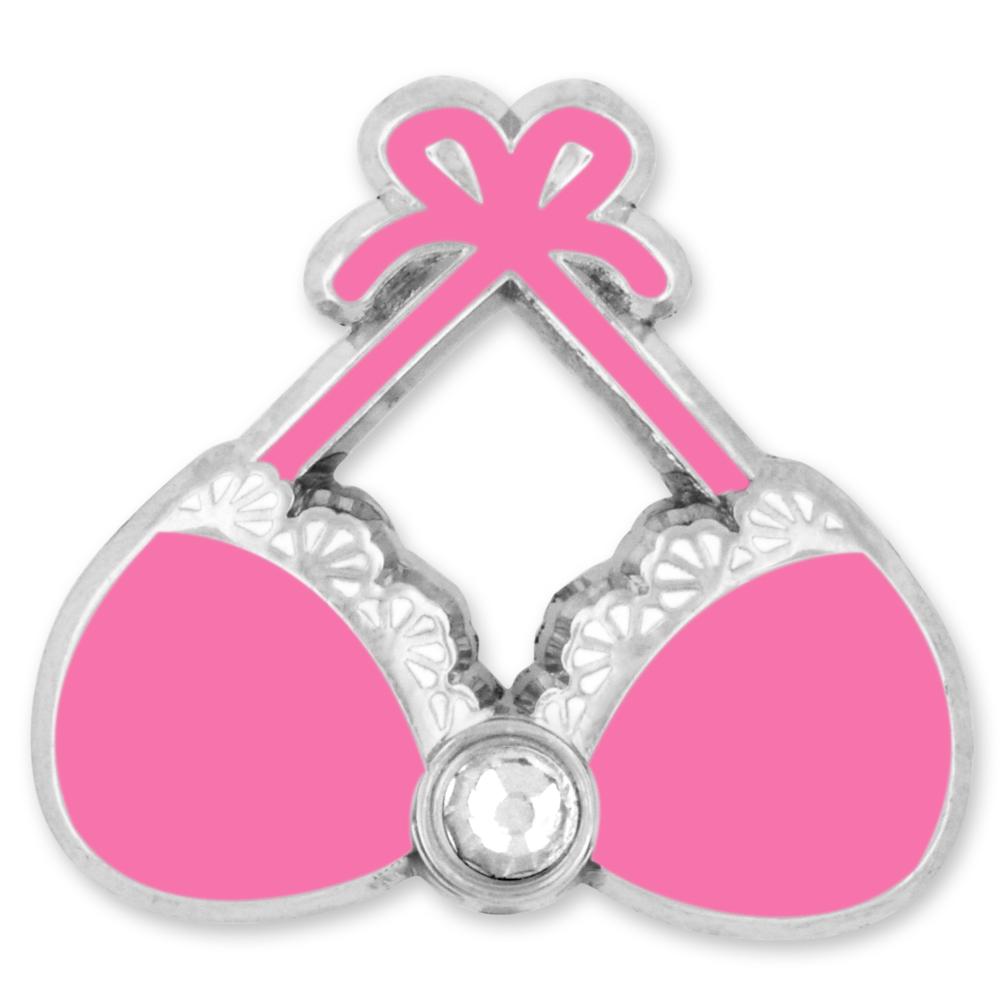 Pinmart s Pink Bra Breast Cancer Awareness Enamel Lapel Pin