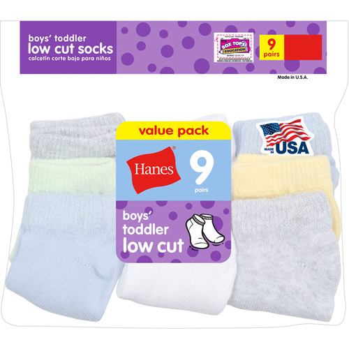 Hanes Newborn Boys Low Cut Socks 9 Pack