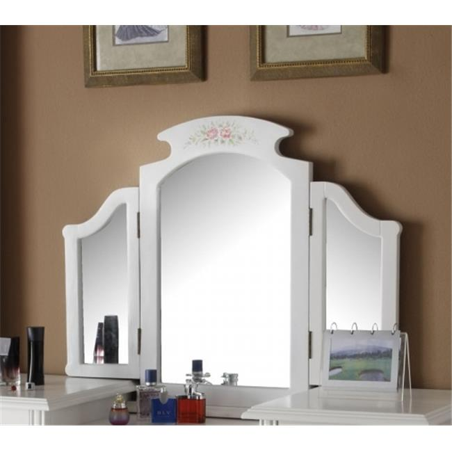 ACME Torian Vanity Mirror, White by Acme Furniture