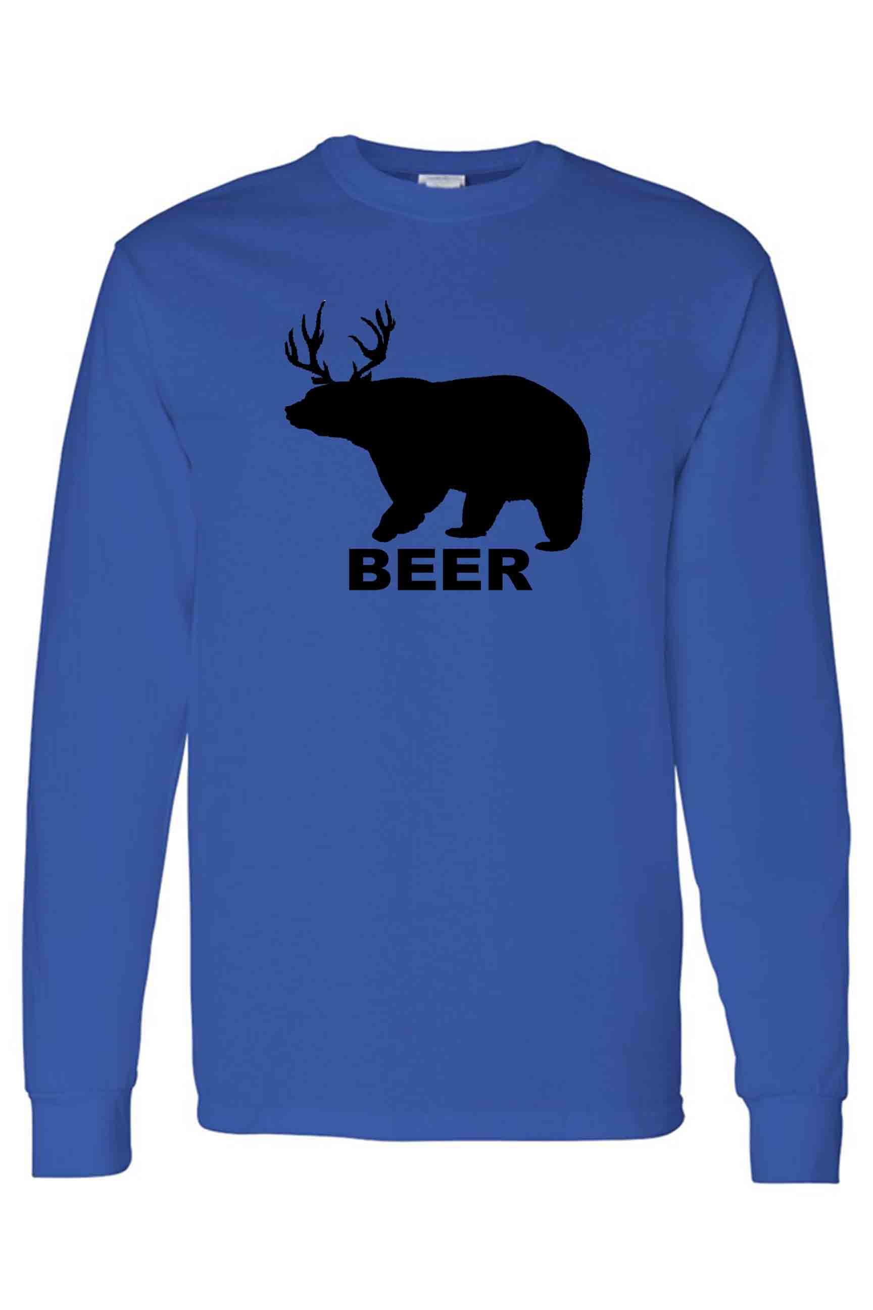 SHORE TRENDZ Mens Bear Deer Beer Tank Top Shirt