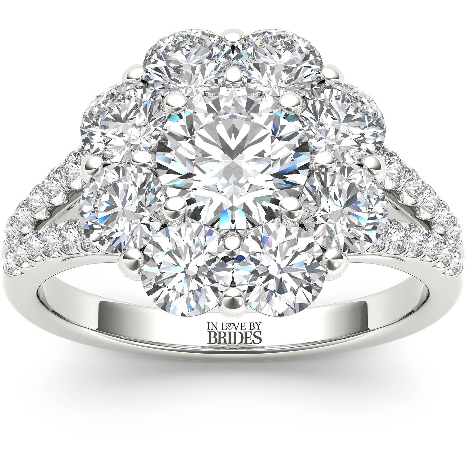 In Love By Brides In Love By Brides 2 Carat Tw Certified Flower