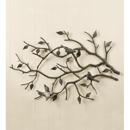Bird Branch Wall Art Made Of Cast Iron Indoor Or Outdoor Use