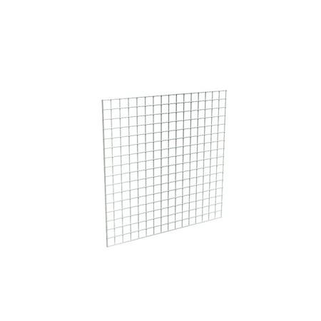 Econoco Chrome Grid Panel for Retail Display or Home Storage, 4' x 4' - 3 Grid Panels Per - Chrome Grid