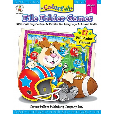 Colorful File Folder Games, Grade 1 : Skill-Building Center Activities for Language Arts and Math - Halloween Math Center Ideas