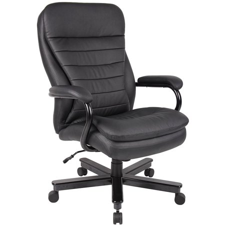 Big and Tall Executive Office Chair for Heavy Duty Big Man Black Leather Task Computer Ergonomic