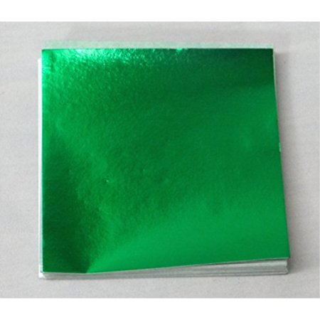 """6"""" X 6"""" Emerald Green Confectionery Foil Wrappers Candy Wrappers Candy Making Supplies"""