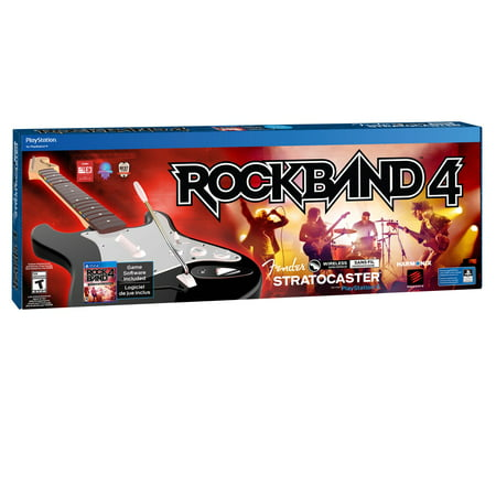 Mad Catz Rock Band 4: Wireless Fender Stratocaster Guitar Bundle (PS4)