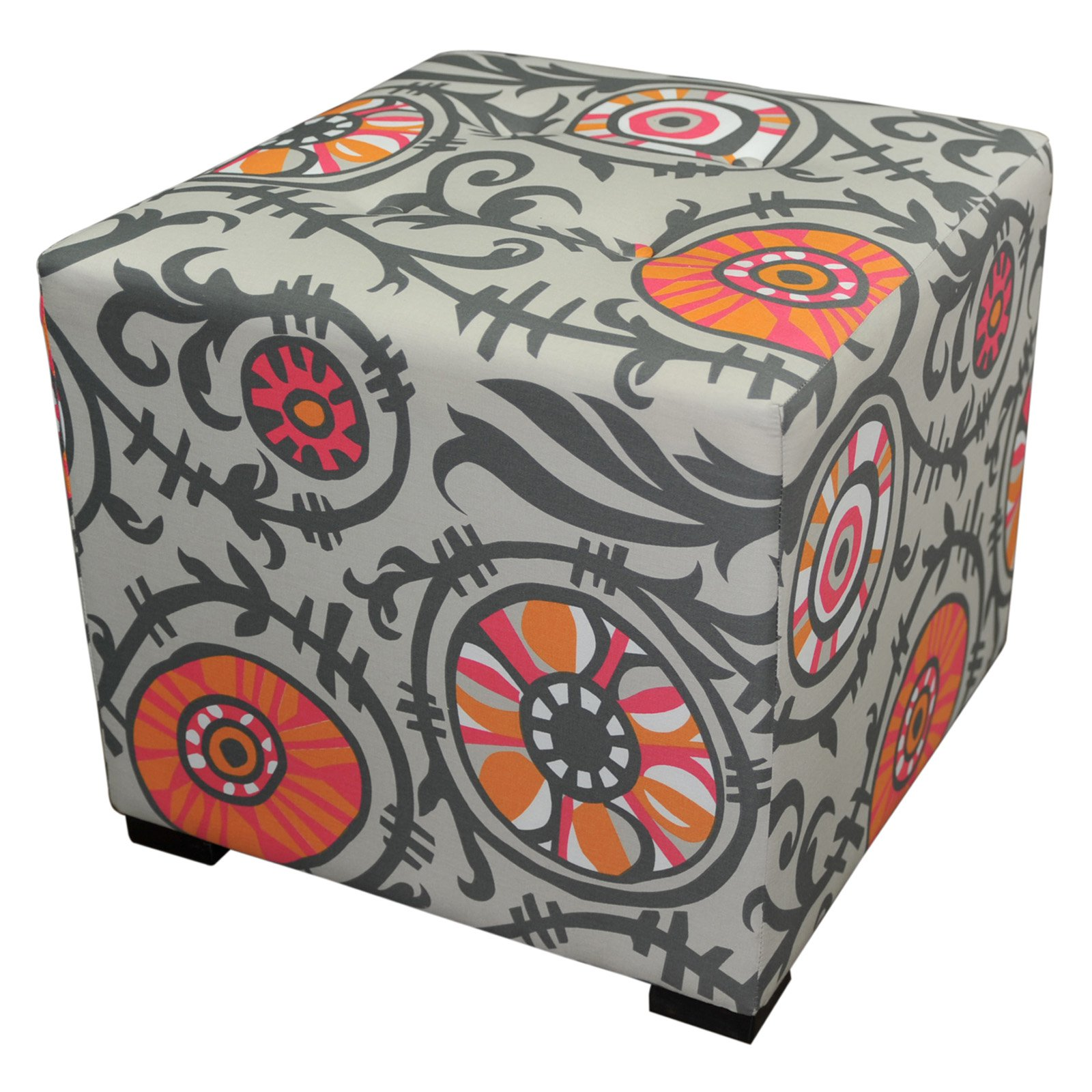 Sole Designs Merton Collection Contemporary Willard Upholstered Ottoman