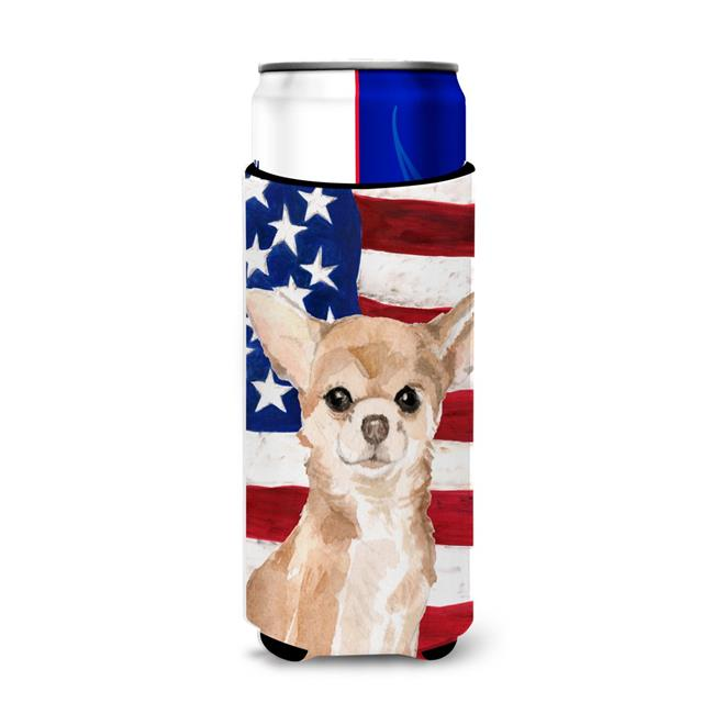 Carolines Treasures BB9376MUK Chihuahua Patriotic Michelob Ultra Hugger for Slim Cans - image 1 de 1