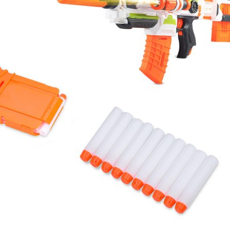 HERCHR EVA Bullets Lot, Toy Gun Bullet,100Pcs EVA Foam Soft Bullets Lot White Round Hollow Head for Toy Gun - Hollow Head