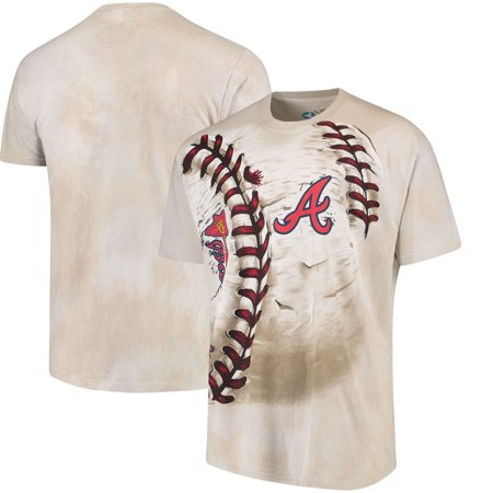 Atlanta Braves Hardball Tie-Dye T-Shirt - Cream