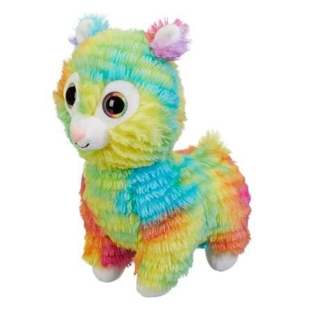 Spark. Create. Imagine. Tie-Dyed Plush Llama, Multicolor, 9""