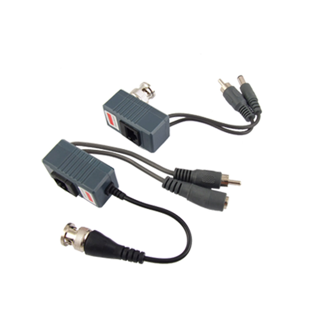 1 Port BNC Passive Power Video Audio Balun Transceiver 2pcs for CCTV System