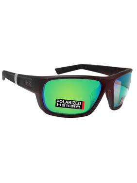 2ac436557b54 Product Image Under Armour 8630098-010126 launch black rubber frame green  polarized lens new