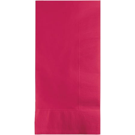 Touch of Color Dinner Napkins, 2-Ply, 1/8 Fold, Hot Magenta, 50 Ct (Folding Dinner Napkins)