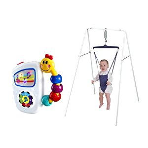 Jolly Jumper Exerciser With Stand with Baby Einstein Take A Long Tunes by Jolly Jumper