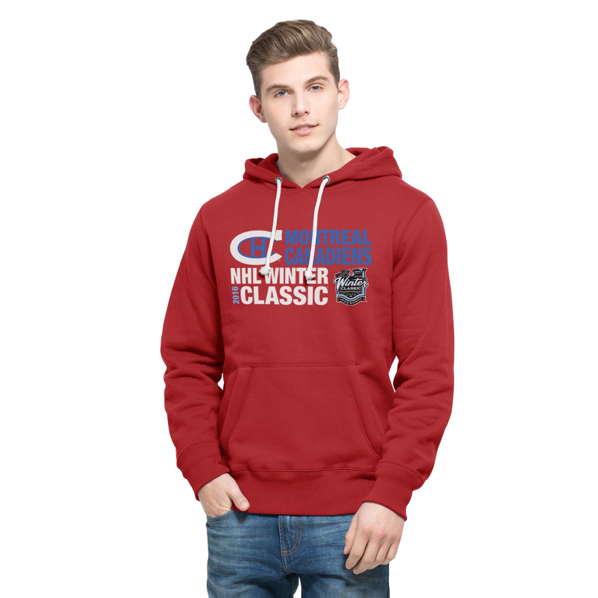 Montreal Canadiens '47 2016 Winter Classics Crosstown Striker Pullover Sweatshirt - Red