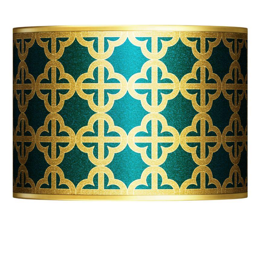 Giclee Glow Four Corners Gold Metallic Lamp Shade 13.5X13.5X10 (Spider)