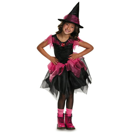 Anime Witch Dress Up (Black Pink Charmed Salem Witch Dress Tutu Halloween Costume)