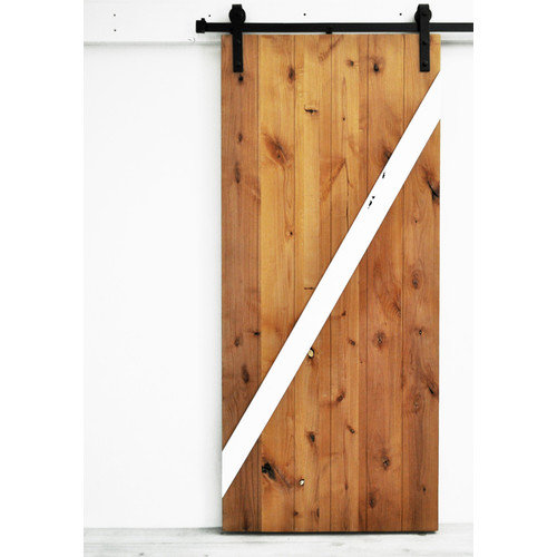 Dogberry Collections Mod-Z Wood 1 Panel Interior Barn Door