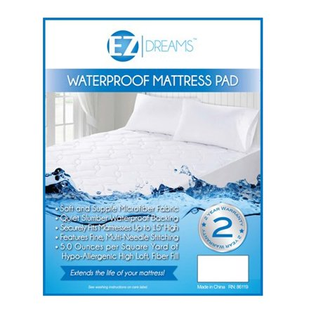 Waterproof Allergen Barrier Mattress Protector: Breathable Knit Fabric, 18