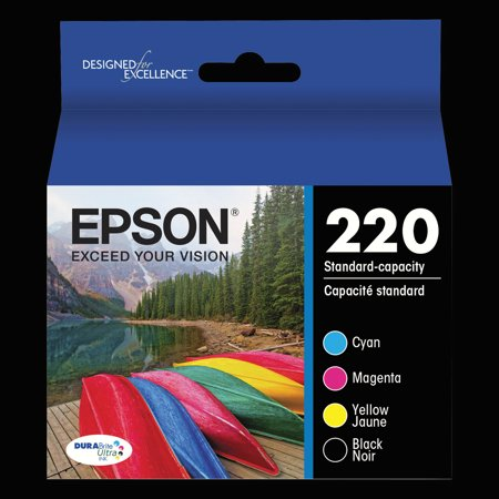 Epson 220 DURABrite Ultra Black/Color Combo Pack Ink (Best Price For Epson Ink Cartridges)