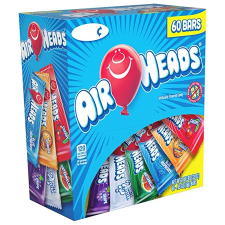 Airhead Assorted Flavors Chewy Candy Bars, 0.55 Oz., 60 - Royal Wholesale Candy