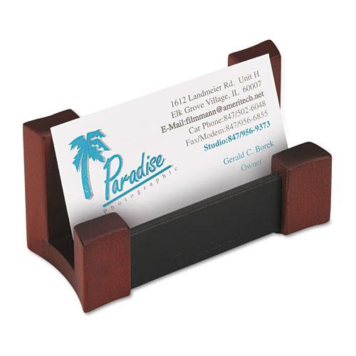 Wood/Leather Business Card Holder ROL81766