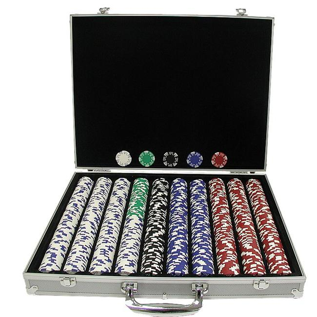 1000 Royal Suited 11. 5 Gram Chips with Aluminum Case