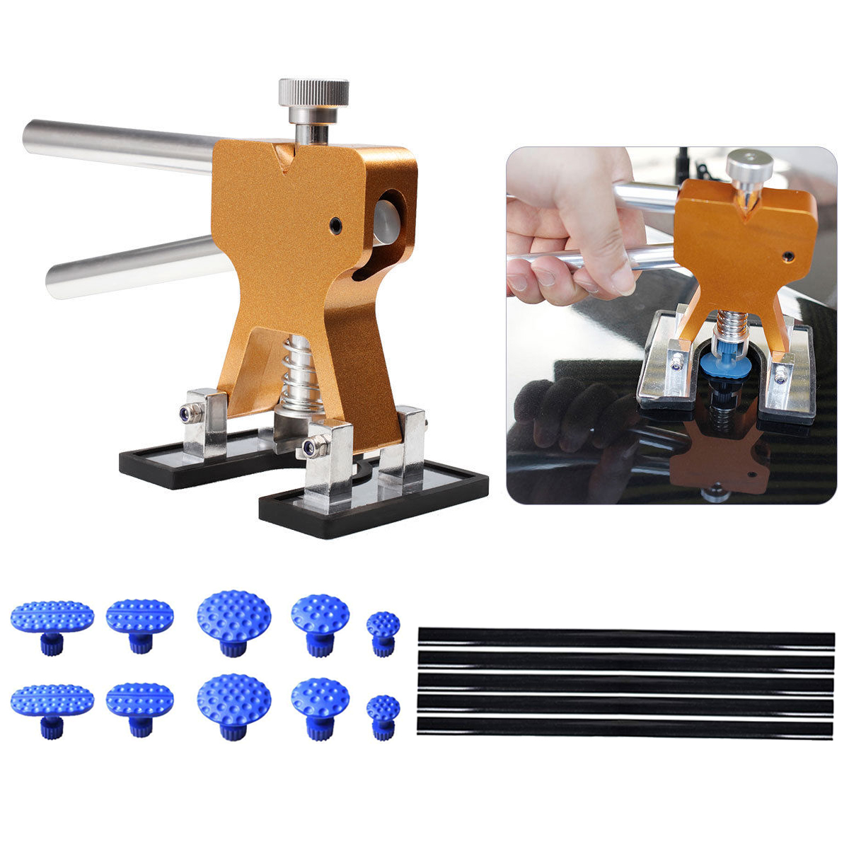 Car Body Paintless Dent Repair Removal Tools, Auto Dent ...