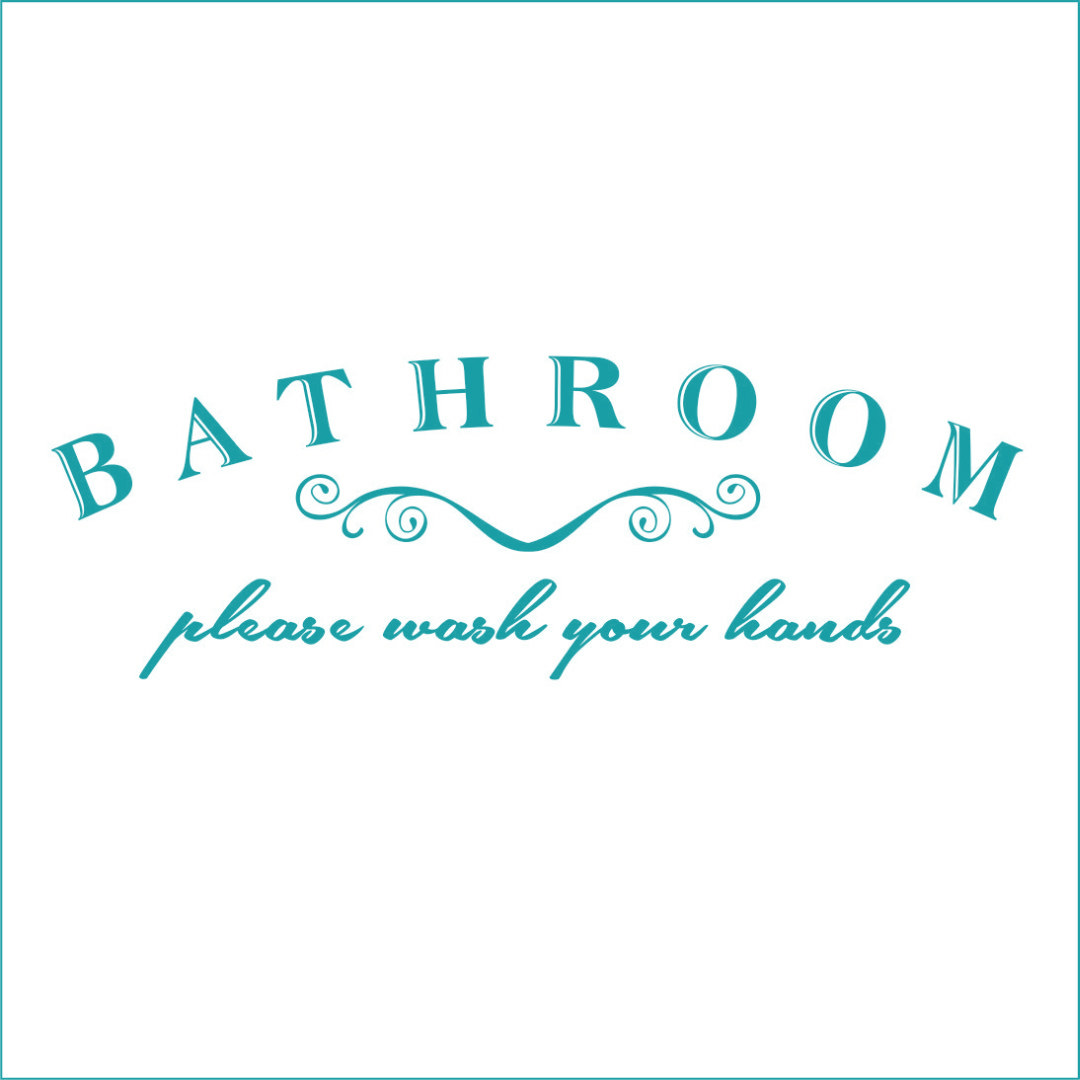Bathroom Please Wash Your Hands Vinyl Decal - Large