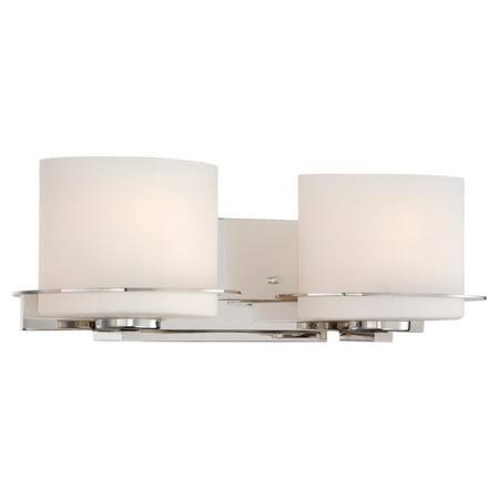- Lighting 60/5102 Bathroom Fixtures Loren Indoor Lighting Vanity Light ;Polished Nickel