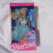 My First Barbie in Pale Blue Easy-To-Dress Glittering Ballerina Costume (1991)