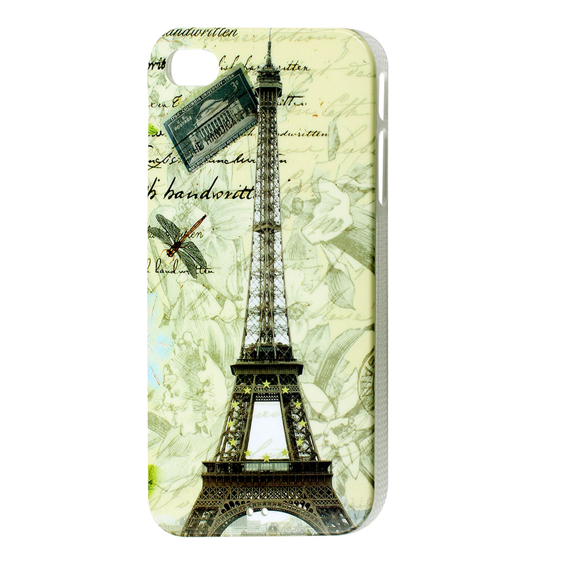 Paris Eiffel Tower Dragonfly Hard Back Case Cover for Apple iPhone 4 4G 4S 4GS