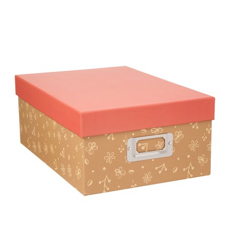Decorative Photo Storage Box: Taupe Floral](Decorative Storage Containers)
