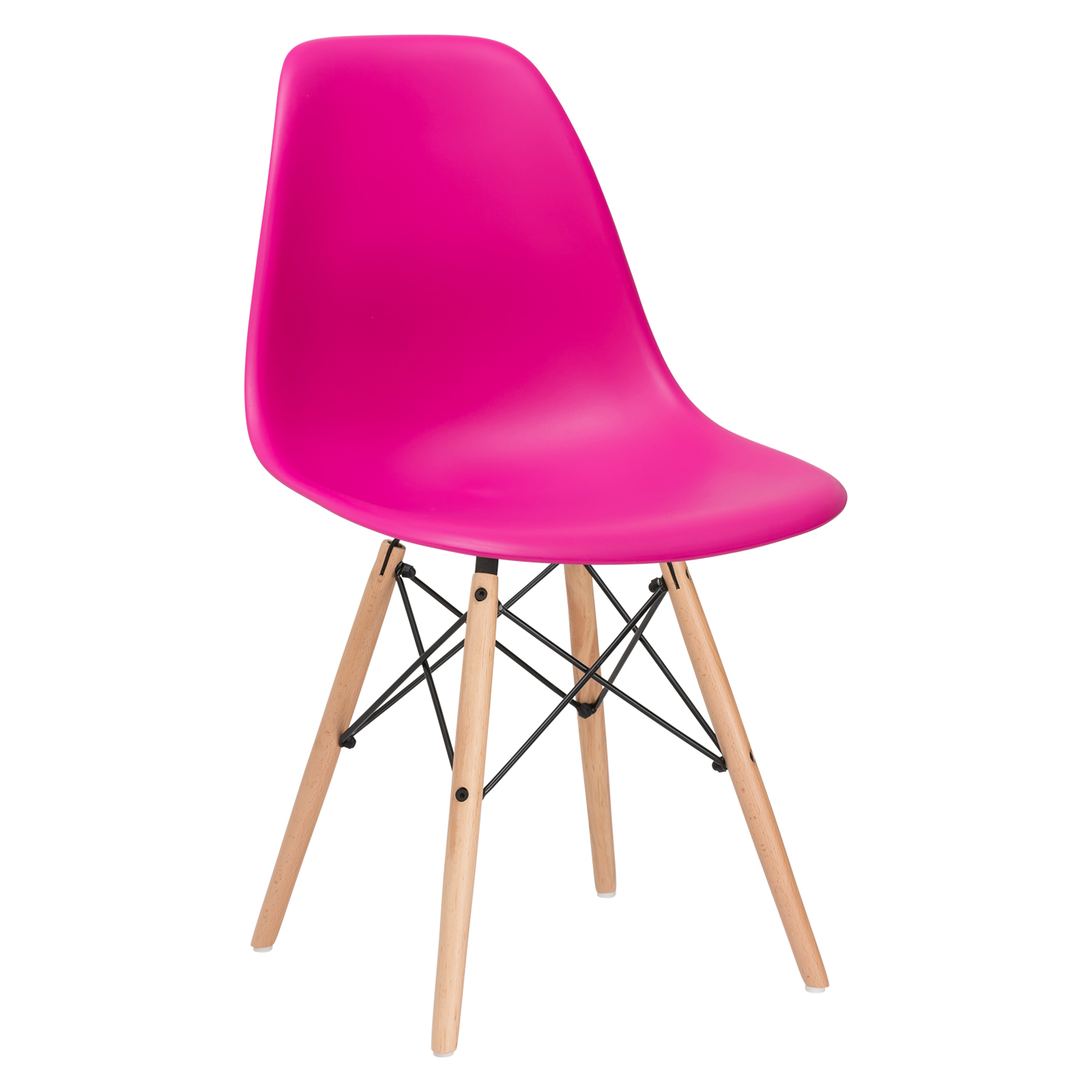 Poly and Bark Vortex Side Chair in Orange