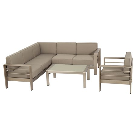 Jordan Aluminum 5 Piece Patio Conversation Set
