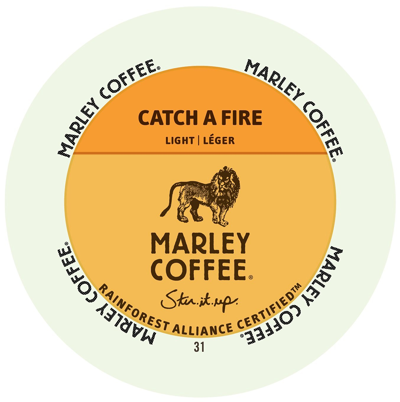 Marley Coffee Catch A Fire, RealCup portion pack for Keurig K-Cup Brewers, 24 Count