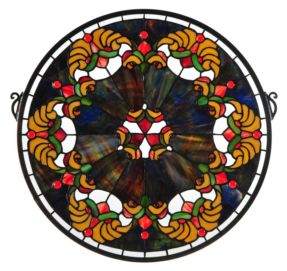 Middleton Medallion Stained Glass Window