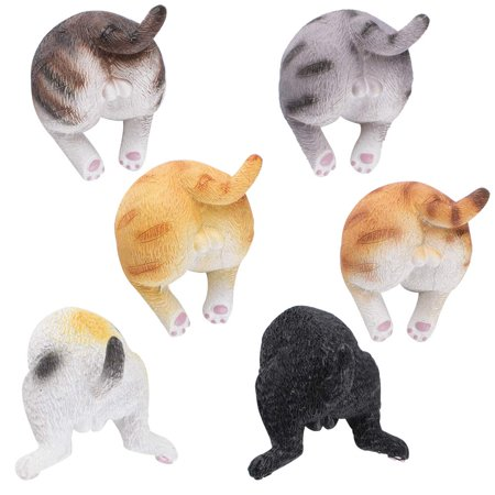 6Pcs Cat Butt Refrigerator Magnets, Cat Butt Refrigerator Magnets, Funny Animal Decorative Fridge Magnets, Perfect Animal Lover Gifts - image 3 de 6