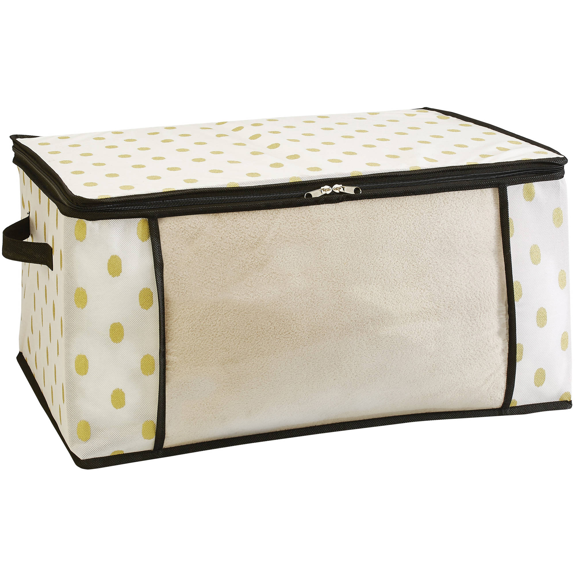 "NW Blanket Bag, 24"" x 18"" x 12"", White/Gold Dot"
