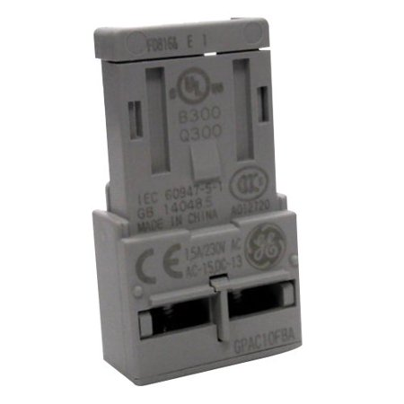 GE Industrial GPAC10FBA IEC Auxiliary Contact Block 1 NO