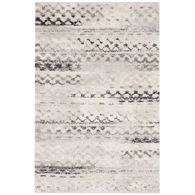 Safavieh Retro 6' Square Power Loomed Rug in Cream and Gray - image 9 of 10