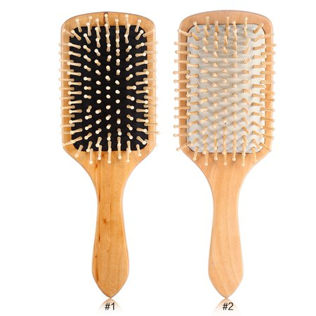 Hair Brush-Boar Bristle Hair Brushes Natural Wooden Cushion Massage Anti Static Large Paddle Hairbrush for Women Men and