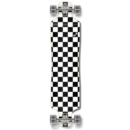 Lowrider Longboard (Yocaher Lowrider Longboard Complete - Checker White )