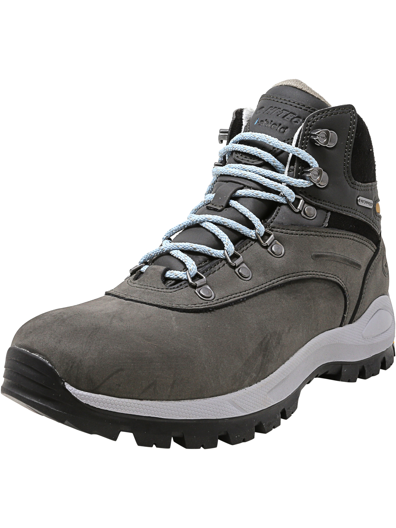 Hi-Tec Women's Altitude Alpyna I Waterproof Charcoal   Forget Me Not High-Top Leather Hiking Boot 8.5M by Hi-Tec